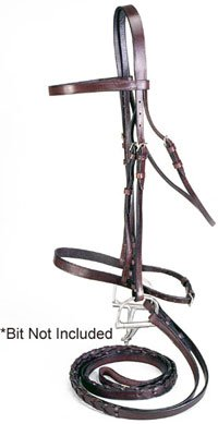 Silver Fox Full Laced Rein Snaffle Bridle