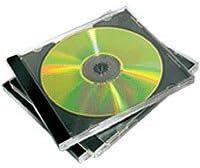 Fellowes 98307 - Pack de 5 Cajas Estuche Dobles para 2 CDs/DVDs, Color Negro: Amazon.es: Informática