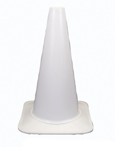 Cortina 03-500-37 Polyethylene Sport Cone, 18'' Height, White