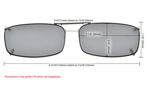 a3b2f410e619 Jual Eyekepper Metal Frame Rim Polarized Lens Clip On Sunglasses 2 1 ...