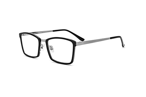 HEPIDEM Acetate Thin Metal Men Optical Glasses Frame Spectacle Eyewear 70037 (Black - Store Online Glasses