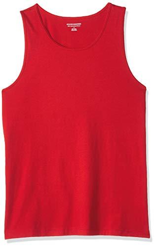 Amazon Essentials Men's Slim-Fit Solid Tank Top, Red, Medium