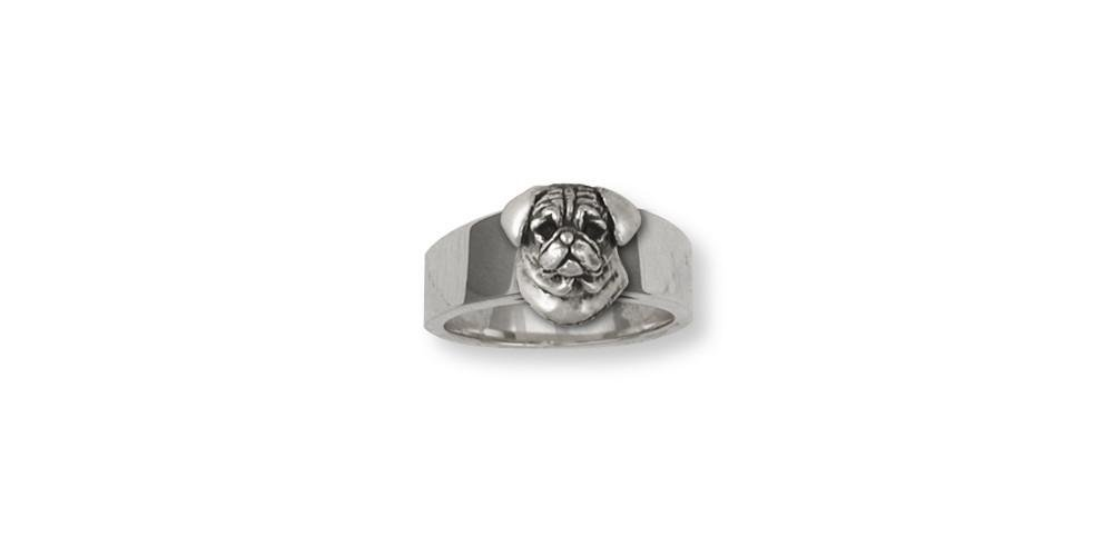 Pug-Jewelry-Sterling-Silver-Pug-Ring-Handmade-Dog-Jewelry-PG33-R