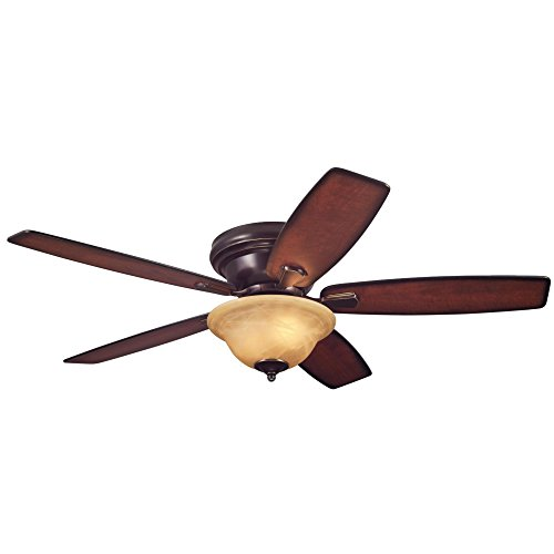 Westinghouse 7213100 Traditional Sumter LED 52 inch Classic Bronze Indoor Ceiling Fan, LED Light Kit with Amber Alabaster (Classic Bronze Bowl)