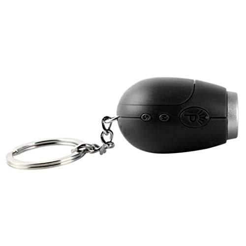 Carey Rebecca Portable Digital Watch Mini Projection Clock LED Keychain Watch with Magic Night Light Design Projector Alarm Clock,Black - Mini Watch Keychain