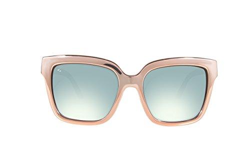 GHNDY Italy Made Unisex Polarized Cat Eye Sunglasses (Hemingway, Acqua - Giada Glasses