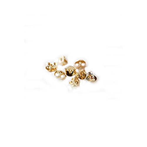 Flyshop 50-piece Bullet Clutch Earring Backs (Gold Steel Small) -