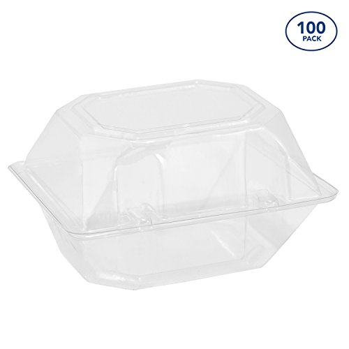 100 Pack Clear Plastic Flower Box for Corsage, Boutonniere, Rose, Orchid Prom Wedding Craft Container 5x4x3 ()