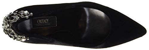 Oxitaly Ladies Sissi 319 Mary Jane Low Shoes Nero (nero)