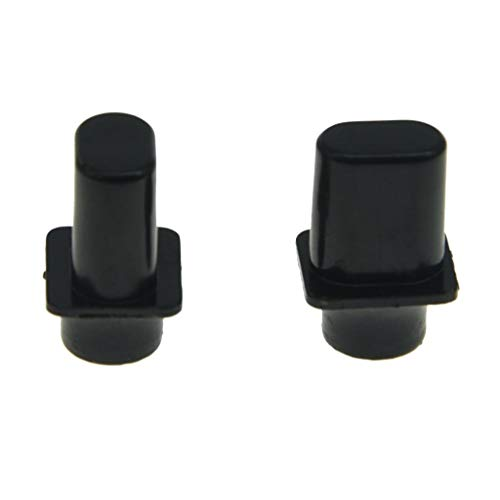 KAISH Pack of 2 Black Vintage Top Hat Switch Tip 3 Way or 4 Way Pickup Selector Switch Knobs for U.S. Tele/Telecaster ()