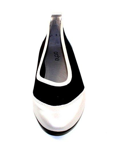 Arche Womens Oneo In Argento Trappeur Metallo Pelle Perlata / Microfibra Stretch Nero - Bianco Sporco - Taglia 41 M