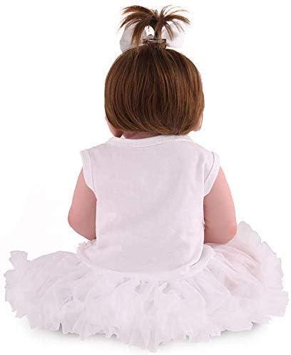 55 cm realistische simulatie pop herboren baby meisje, full body siliconen materiaal, WZ37 kan een douche nemen/mooie baby speelgoed cadeau