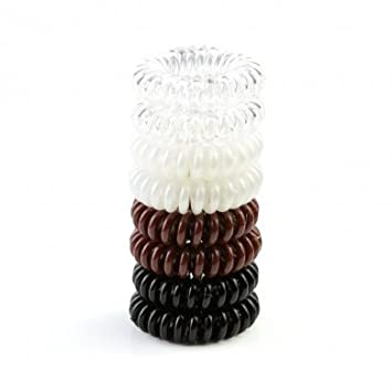 Amazon.com   Pretti PonyTM Spiral No Crease Twist Hair Tie - Shrink-Back  tech - Brunette - 8 pk   Beauty 3e8647686f8