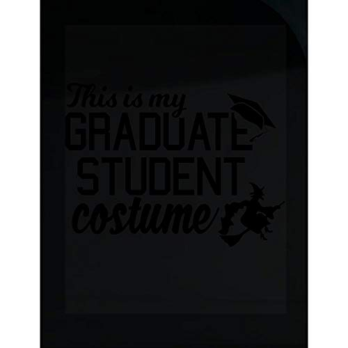 Merch Chimp This is My Grad Student Costume Funny Witch's Broom October Graduation - Transparent -