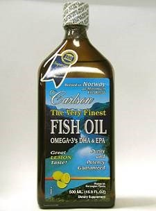 Carlson - The Very Finest Fish Oil Lemon, 16.9oz, 2