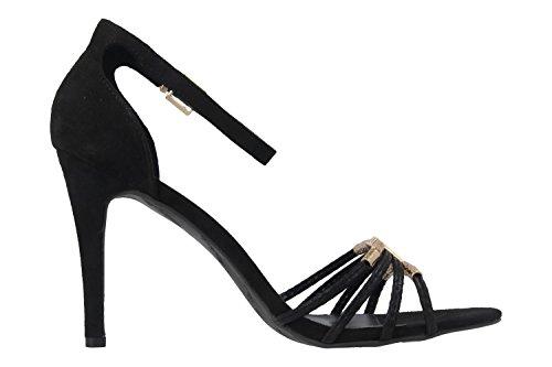 ANDRES MACHADO - Damen Sandaletten - Schwarz Schuhe in Übergrößen