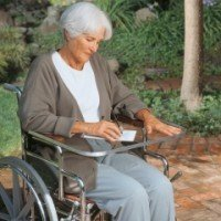 North Coast Medical NC94102 See-Thru Wheelchair Work Tray with Aluminum Lip