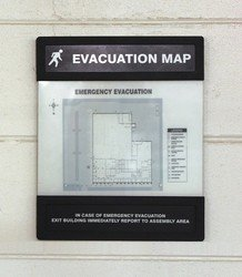 Evacuation Map Holder, 8-1/2 in. x 11 in. ()