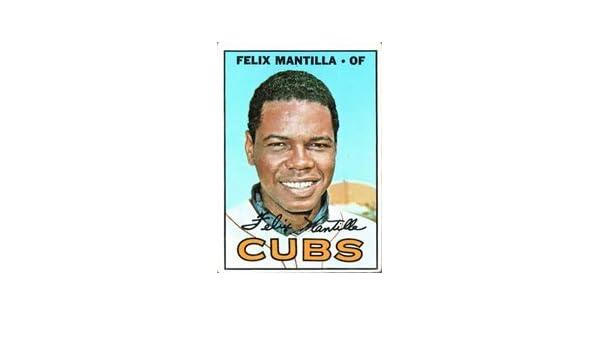 Baseball Cards Felix Mantilla 1967 Topps Signed Autographed Card #524 Hi# Cubs
