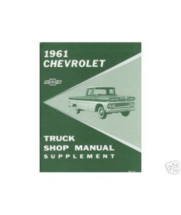 1961 Chevy Pickup Truck Shop Service Repair Manual Book Engine Electrical OEM