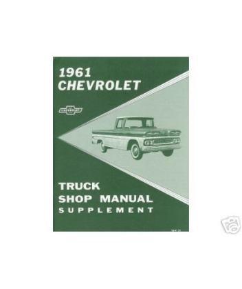 1961 Chevy Pickup Truck Shop Service Repair Manual Book Engine Electrical OEM