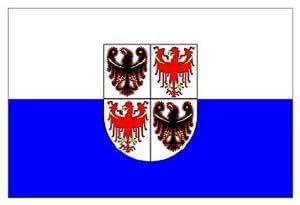 Bandera de matrícula del Trentino Alto Adige cm 100x 150de poliéster náutico