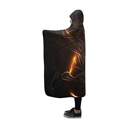 Hooded Basketball (AIKENING Hooded Blanket Basketball Player On Dark Blanket 60x50 Inch Comfotable Hooded Throw Wrap)