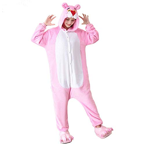 Lazutom Women Adult Cartoon Animal Christmas Halloween Cosplay Fleece Onesie Pajamas (M Fit Height 160CM- 168CM (63