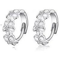 camellia eardrop of ear clip earrings