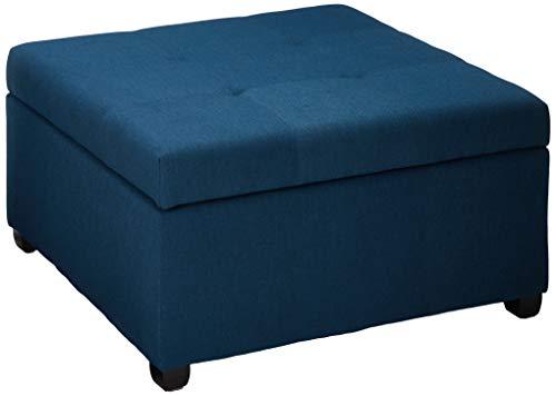 Miraculous Christopher Knight Home Living Carlyle Dark Blue Fabric Storage Ottoman 35 00D X 35 00W X 18 50H Spiritservingveterans Wood Chair Design Ideas Spiritservingveteransorg