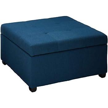 Fantastic Christopher Knight Home Living Carlyle Dark Blue Fabric Storage Ottoman 35 00D X 35 00W X 18 50H Spiritservingveterans Wood Chair Design Ideas Spiritservingveteransorg
