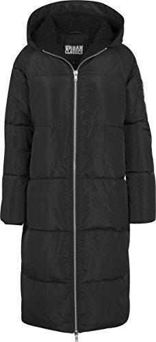 Urban Classics Ladies Oversized Hooded Puffer Coat, Manteau Femme Schwarz (Black/Black 825)