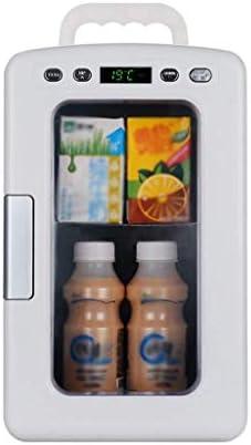 ZWH-ZWH ミニ冷蔵庫ポータブル10リットル車暖房とボックスカー冷蔵庫カーミニ冷蔵庫付きの窓ファミリーカー小型冷蔵庫、デュアルコアを冷却 車載用冷蔵庫
