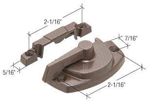 C.R. LAURENCE TH23080 CRL Truth Bronze Sash Lock With Lugs- 7/16