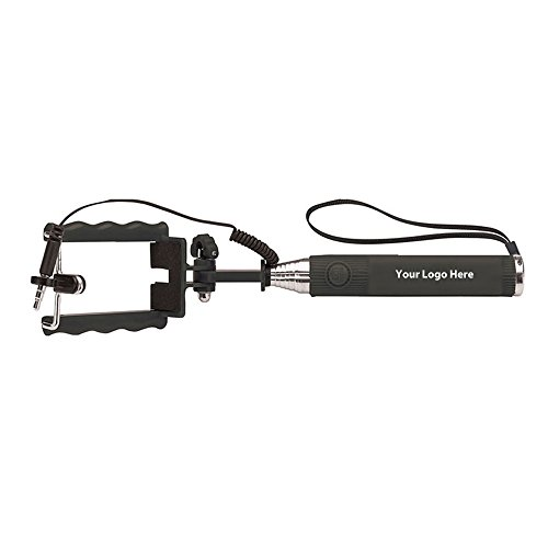 Compact Selfie Stick - 100 Quantity - $6.30 Each - PROMOTIONAL PRODUCT / BULK / BRANDED with YOUR LOGO / CUSTOMIZED by Sunrise Identity