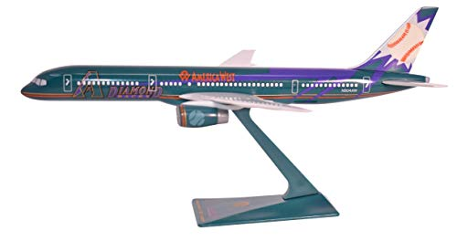 - America West D Backs Boeing 757-200 Airplane Miniature Model Snap Fit Kit 1:200 Part# ABO-75720H-600