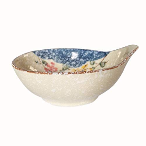 (Salad Bowls Porcelain Ceramic Bowl Mixing Bowl Tableware Soup Bowls Salad cereal Dishes Suit Household Simple Combination breakfast Tableware)