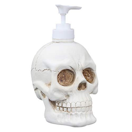 11.8 Oz Soap Dispenser Bottles Gothic Countertop Lotion- Skeleton Skulls Creative Hand Soap Dispenser with Pump - Suitable for Essential Oils, Lotions, Conditioner, Liquid Soaps Shampoo (Skull)