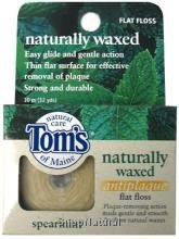Flat Spearmint Antiplaque (Flat Floss, Antiplaque, Naturally Waxed, Spearmint, 32 yd.)