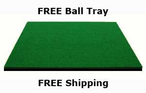 Dura-Pro Commercial Golf Mat Premium Turf. Includes Golf Tray and 3 Rubber Tees. Practice Hitting and Chipping for Driving Range or Home Use, Backyard, As Seen On The Golf Channel TV (3x5 Feet)