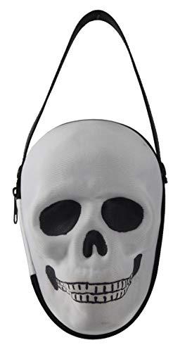 Connie N Randy Halloween Costume Faux Skull Handbag White]()