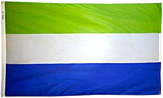 product image for Annin Flagmakers Model 197319 Sierra Leone Flag Nylon SolarGuard NYL-Glo, 2x3 ft, 100% Made in USA to Official United Nations Design Specifications
