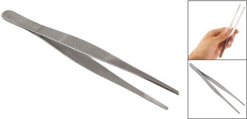 16cm Uxcell Silver Tone Nonslip Metal Tweezers