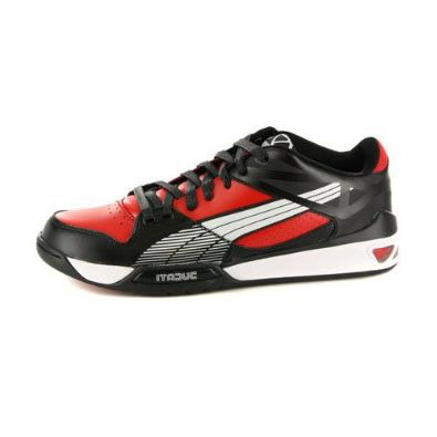 9c0e1cd1dc0 PUMA Mens Hypermoto Low Ducati Black Red Leather Sneakers 11 US ...