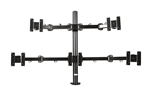 MonMount Penta Monitor Mount Stand Articulating Clamp Style up to 24-Inch Screens, Black (LCD-482F-B)