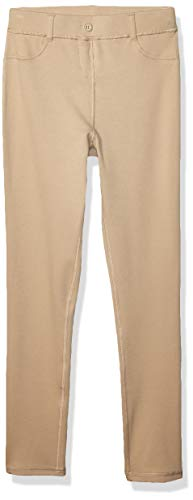 (Chaps Girls' Big School Uniform Sensory-Friendly Super Soft Jegging, Khaki, 16)