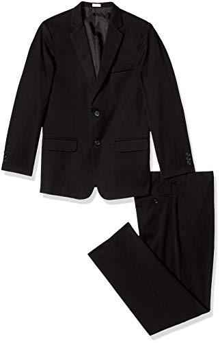 (Calvin Klein Big Boys' Gab 2 Pc Suit, Black, 12)