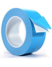 Thermal Adhesive Tape, 1 Pcs 15mm/ 0.6inch High Performance Double Side Thermally Tapes for Heatsinkfor Computer Heatsinks, Blue