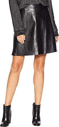 Vince Camuto Womens Back Zip Pleather Skirt Rich Black 0