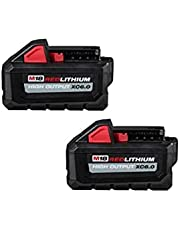 Milwaukee 48-11-1862 M18 Lithium-Ion High Output 6.0Ah Battery Pack (2-Pack)